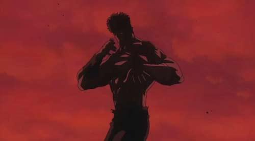 Uma mistura de Bruce Lee com Stallone Cobra.