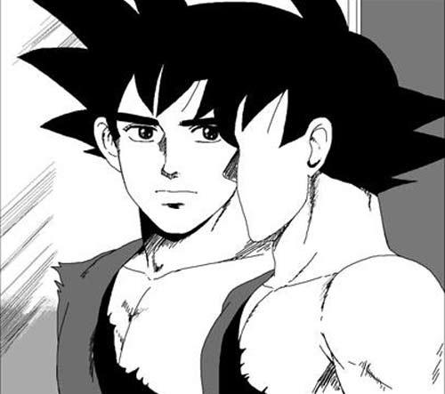Goku como você nunca viu. Não, eu não vou por imagens oficiais de Kuso Miso aqui. Fiquem com os memes que foram criados com a cara do protagonista.